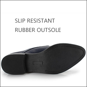 Slip resistant rubber outsole