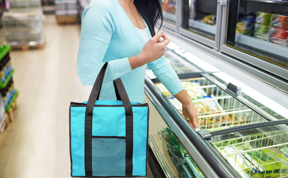 Groceries shopping hot food cold food insulated large