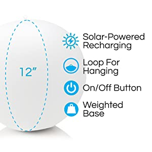 solar, led, light, waterproof, outdoor, pool, floating, color, white, unique