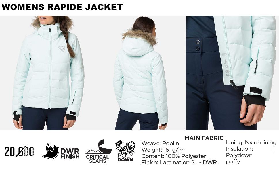 6876a32b2ca5 Amazon.com  Rossignol Rapide Ski Jacket Eclipse Womens Sz L  Clothing
