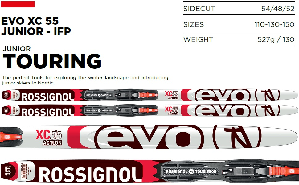 Amazon Com Rossignol Evo Xc 55 Junior Ifp Xc Skis W Step In Junior Bindings Kid S Sz 150cm Sports Outdoors