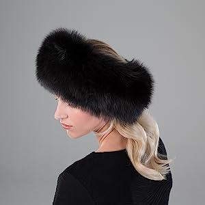 fur faux winter hat russian fashion cold warm soft luxury rabbit fox mink ski headband