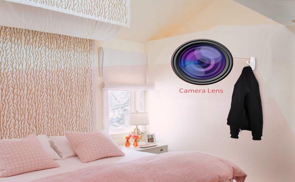 FSTCOM Clothing Hook Spy Camera   1280P HD Premium Video Resolution   Best  Home Security Hidden Cam