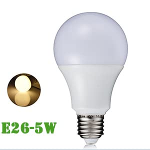40 Watt Incandescent Equivalent Led Light Bulbs 5 W Lighting Fixture Soft Warm White A55 450 Lumens E26 Medium Base Bright For Home Or Decorative Pack Of 5 Amazon Com