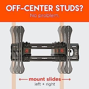 Center tv mount level extending tilt mount glare