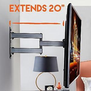 bracket inch screens tilt ceiling screen kit brackets swivel full cheetah videosecu mountingdream