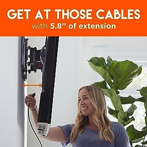 Wall mounted bracket tilting mount dream cheetah amazon basics sanus advanced premium smooth install