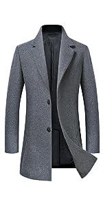 Amazon.com: Chamarra clásica de lana para hombre 101219 ...