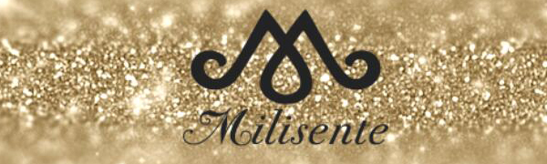 milisente clutch bag logo