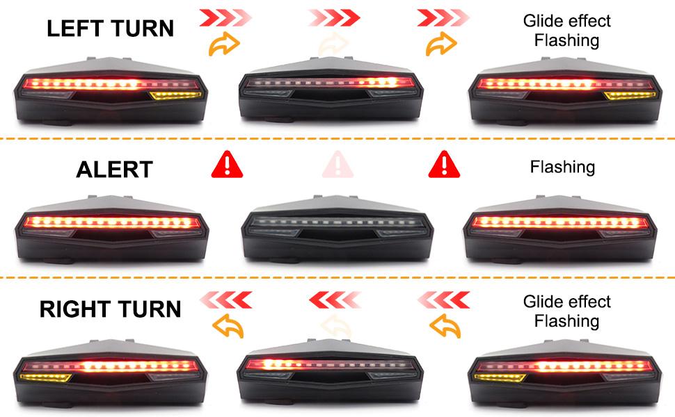 Bicycle Rear Safety Light Waterproof Bike Cycling Warning Tail LED Light Lamp