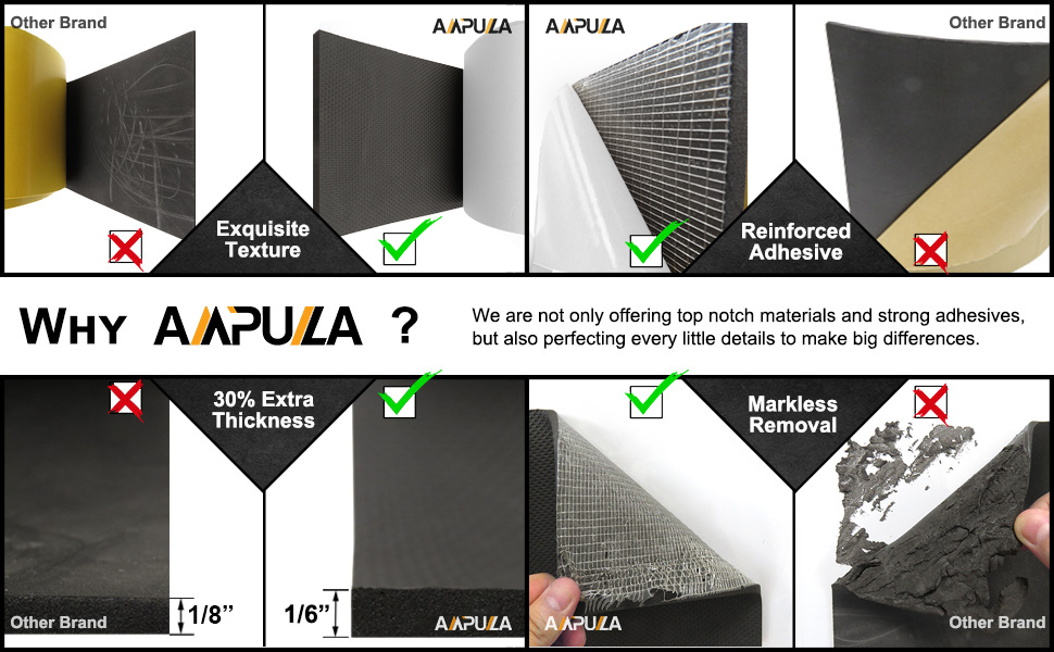 Designed in Germany 2 Pieces in One Roll 4.5mm Thickness Ampulla Super Thick Water Resistance Garage Wall Protector