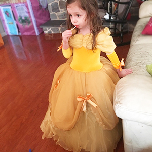 3a8fa13176 Amazon.com: CQDY Belle Costume for Girls Yellow Princess Dress Party ...
