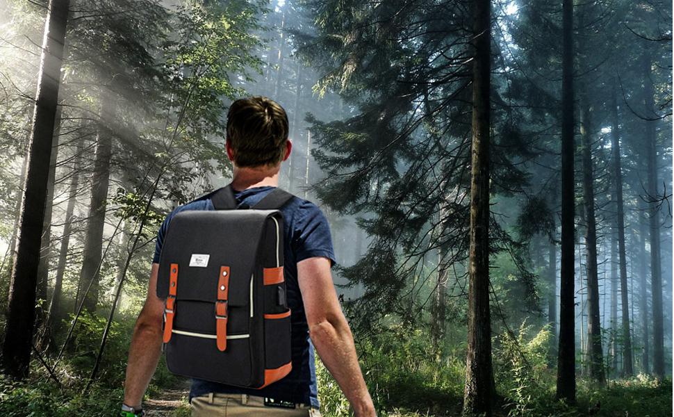 College Backpack Hiking Travel Bag