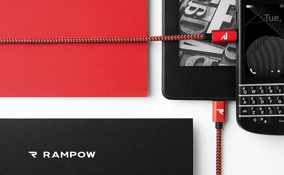 Amazon.com: RAMPOW USB Micro Cable, Samsung Charging Cable