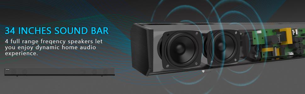 Sound bar with subwoofer bluetooth soundbar with subwoofer Sound bar TV sound bar Sound bar for TV