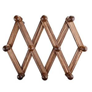Amazon.com: Perchero de Extensible de madera, montado en la ...