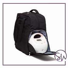 sarah wells kelly breast pump bag backpack hospital grade pump military uniform compliant