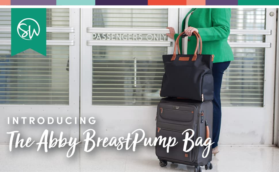 Sarah wells abby breast pump bag solid back to work chic