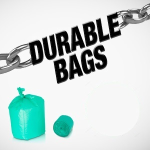 Heavy duty bags are super durable that will ensure that the plastic is not prone to easy tears.
