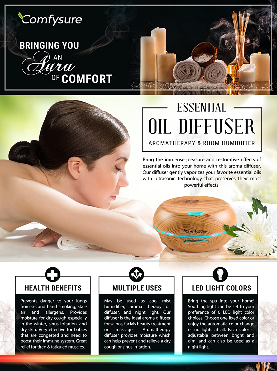 the ideal aroma diffuser for salons facials beauty treatment or massages