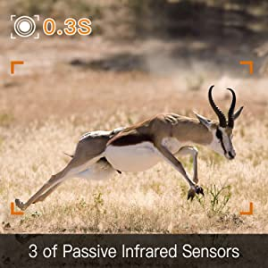 3 PIR of trail camera