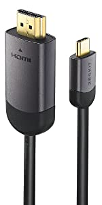 USB-C to HDMI Cable, Type C, Gold platd, USB 3.1