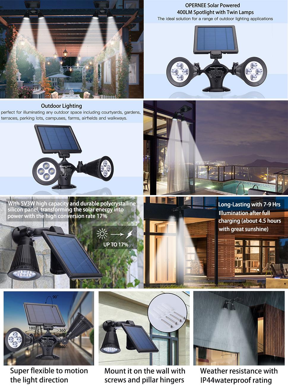 double lamps solar lights best outdoor lighting