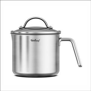 Amazon.com: Cacerola de acero inoxidable de 1,5 litros con ...