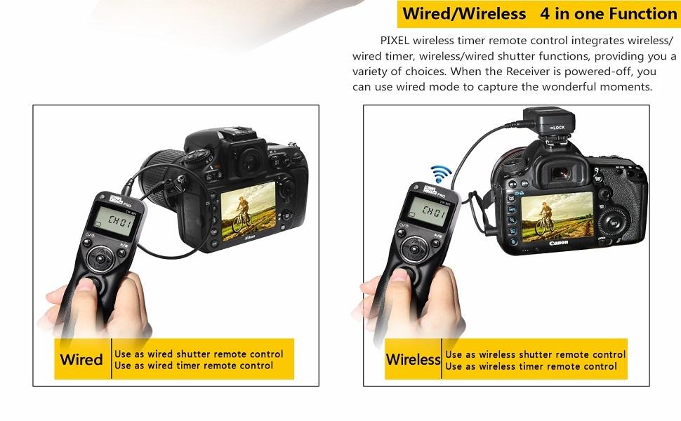 Funk disparador remoto con TIMER función para Canon EOS 250d 77d m6