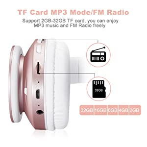 MKay_bluetooth_headphones_wireless_over_ear_wh816_rose_gold_2