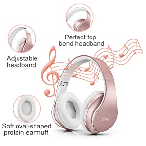 MKay_bluetooth_headphones_wireless_over_ear_wh816_rose_gold_1