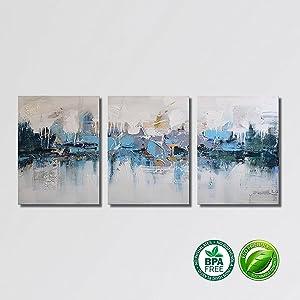 Amazon.com: ARTLAND Modern 100% Hand Painted Framed