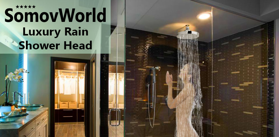 relax at home like in a luxury spa center somovworld rain 6 shower head stands out with high quality construction anti clog and anti leak design - Luxury Rain Showers