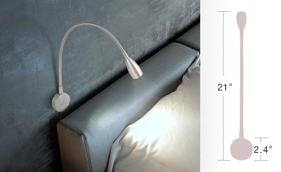 Acegoo Bedside Reading Light Minimalist Led Bed Reading