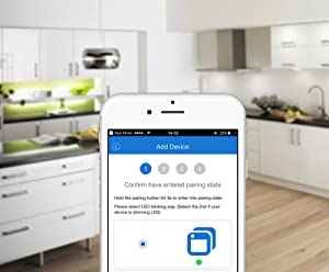WiFi Smart Light Switch In-Wall, Wireless Lighting On/Off No