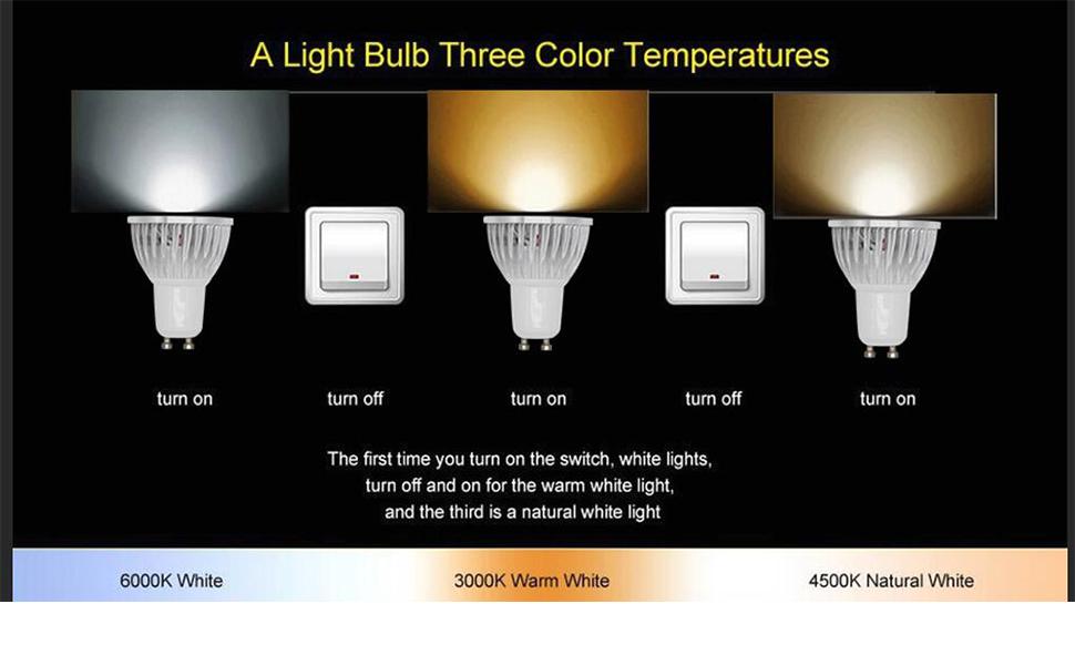 Amazon Com Beilai Gu10 Led Bulb 1 Bulb 3 Color