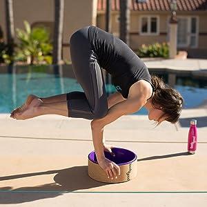 Amazon.com: Corcho Yoga rueda por bodygood. 13 inch, Dharma ...