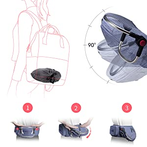 Amazon.com: Bebamour – Asiento ligero para bebé, con cintura ...