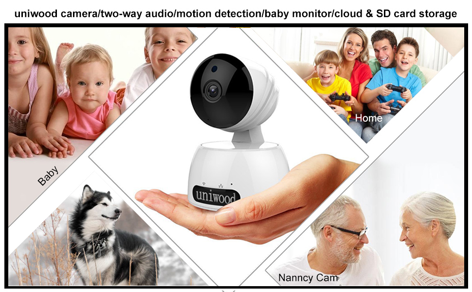Uniwood 1080P HD WiFi Security Camera