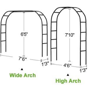 Garden Arch size