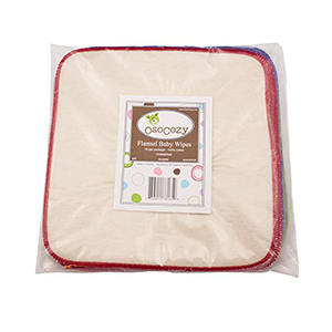 OsoCozy Flannel Reusable And Washable Baby Wipes