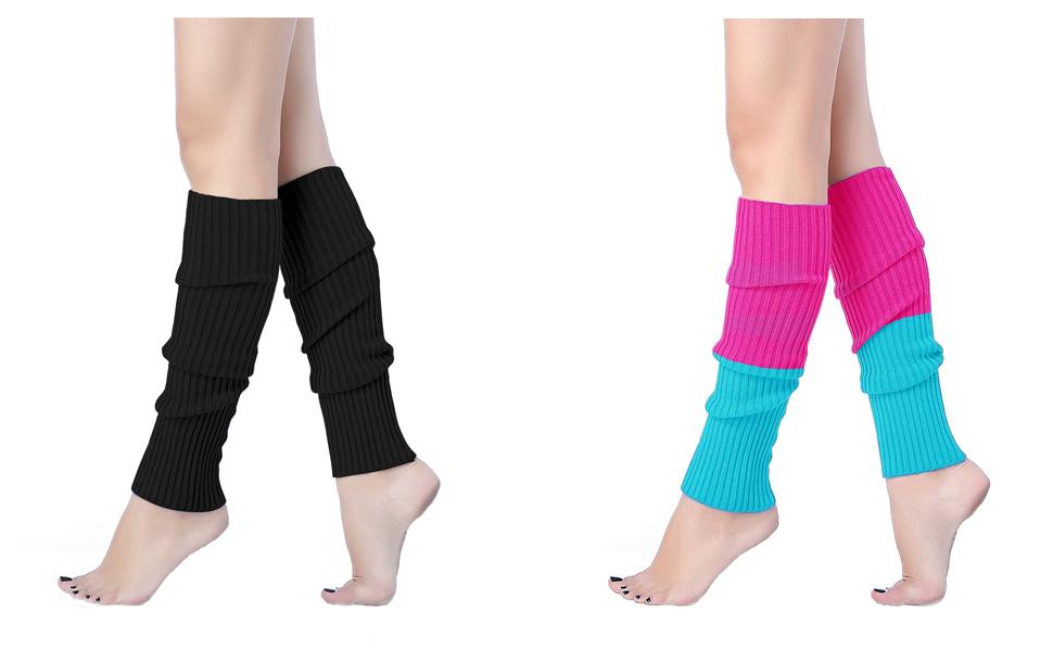 7383fe8488ff6 Amazon.com: V28Women Winter 80s Eighty's Warm Leg Warmers Knitted ...