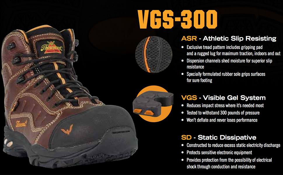 32c3a0db557 VGS-300 SERIES – STATIC DISSIPATIVE – 8″ BROWN COMPOSITE SAFETY TOE – HIKER