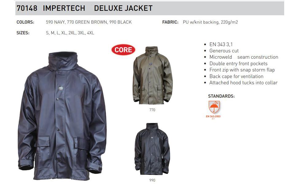Helly Hansen Workwear Men S Impertech Deluxe Rain And Fishing Jacket