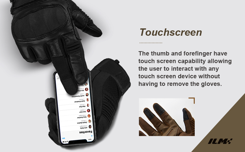 ILM Tactical Gloves Men Touchscreen Hunting Shooting Combat Airsoft Heavy Duty Knuckle Motorcycle
