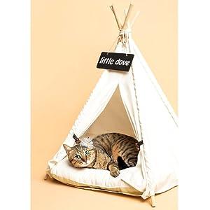 Amazon.com : little dove Pet Teepee Dog(Puppy) & Cat Bed
