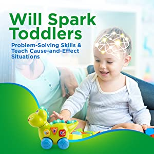 Teaching Learning Walking /& Fun Action Activity YoSpot Talking Dinosaur Toy with Lights and Sounds for Kids