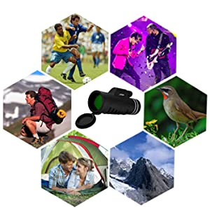 The monocular is suitable for concert,football game,hunting and so on.