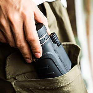 The monocular is compact that can put it in bag