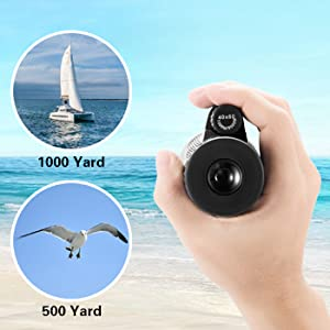 The monocular bring you a wide and clear view